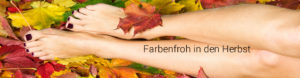 Fusspflege im Herbst