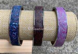 Edelstahl-Armreif breit
